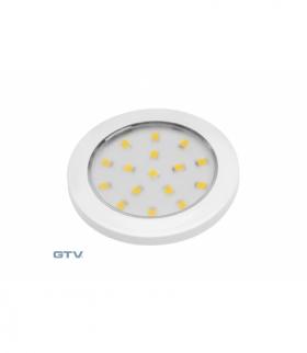 Oprawa LED Lumino biały połysk 12V DC, 1.5W, 16 SMD3528, neutralny biały, 2m przewód z miniAMP