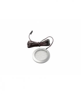Oprawa LED Lumino srebrna 12V DC, 1.5W, 16 SMD3528, neutralny biały, 2m przewód z miniAMP