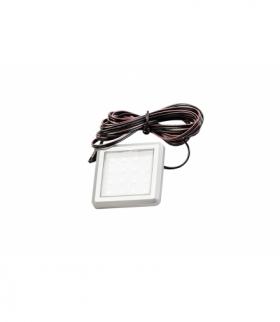 Oprawa ledowa kwadratowa Estella, 12V DC, 1.2W, 16 SMD3528, ciepły biały