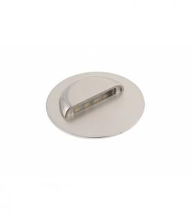 Oprawa schodowa LED, ESCADA OA,DC12V,okrągła,transparentna,0,8W,70lm,4000K,inox,przewód 150cm