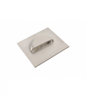 Oprawa schodowa LED ESCADA kwadratowa transparentna barwa neutralna