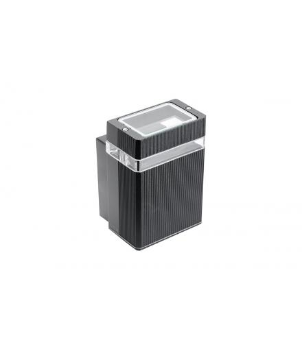 Oprawa ścienna jednokierunkowa NESSA, GU10, MAX. 50W, IP54, AC220-240V, 50/60Hz, czarna