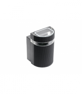 Oprawa ścienna jednokierunkowa SILVA, GU10, MAX. 50W, IP54, AC220-240V, 50/60Hz, czarna