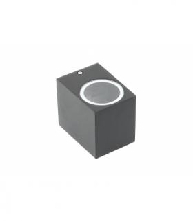 Oprawa ścienna jednokierunkowa,TIAGO KW,GU10,MAX.35W,IP54,AC220-240V,50/60Hz,czarna