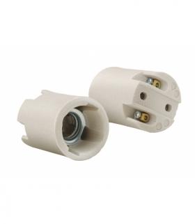 Oprawka ceramiczna E14, biała