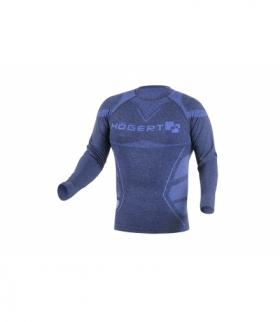 OSTE bezszwowa koszulka termiczna niebieski M-L