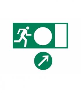 Piktogram wyjście ewakuacyjne uniwersalne, 150x300mm OA-PIKTO-A7