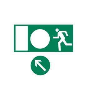 Piktogram wyjście ewakuacyjne, 150x300mm