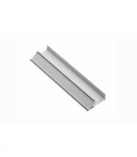 Profil aluminiowy LED cokołowy, nabijany (do wypełnień obrzezem) GLAX silver PŁYTA 16mm
