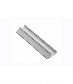 Profil aluminiowy LED cokołowy, nabijany GLAX silver PŁYTA 16mm 2m