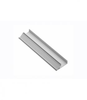 Profil aluminiowy LED cokołowy, nabijany GLAX silver PŁYTA 19mm 3m