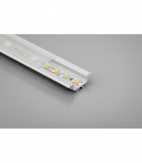 profil aluminiowy LED kątowy GLAX silver 2 m