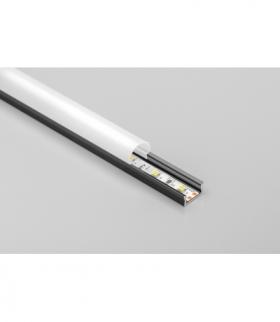 Profil aluminiowy LED nakładany GLAX Mini czarny mat 2 m