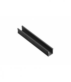 Profil aluminiowy LED nakładany GLAX Mini wysoki 14mm czarny mat 2 m