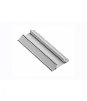Profil aluminiowy LED przegrodowy, nabijany (do wypełnień obrzezem) GLAX silver PŁYTA 19mm 2