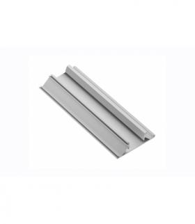 Profil aluminiowy LED przegrodowy, nabijany GLAX silver PŁYTA 19mm 3m