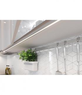 profil aluminiowy LED wieńcowy GLAX silver 2 m (stanowi komplet z uszczelką PA-USZGLAX-00N)
