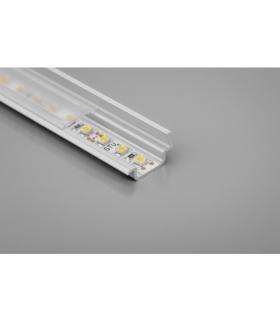 Profil aluminiowy LED wpuszczany kątowy GLAX silver 2 m