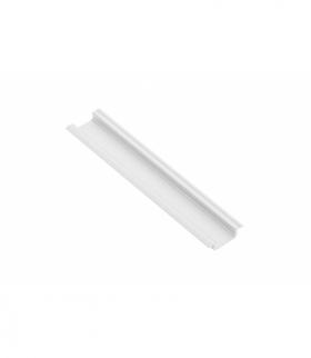 Profil aluminiowy LED z kołnierzem GLAX biały 2 m (wpuszczany)