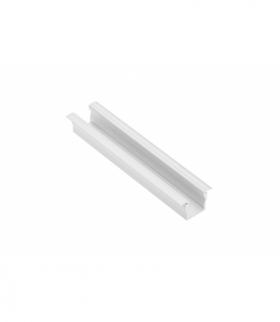 Profil aluminiowy LED z kołnierzem GLAX Mini wysoki 12,5mm biały 2 m (wpuszczany)