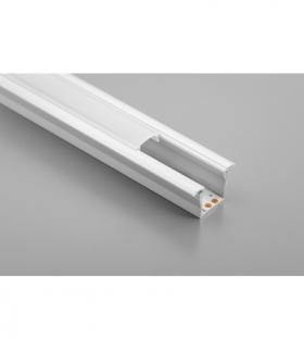 Profil aluminiowy LED z kołnierzem GLAX Mini wysoki 12,5mm silver 2 m (wpuszczany)