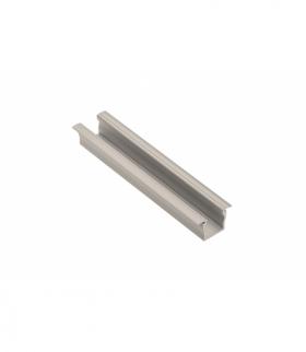 Profil aluminiowy LED z kołnierzem GLAX Mini wysoki 12,5mm szampan 2 m (wpuszczany)