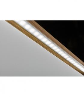 profil aluminiowy LED z kołnierzem GLAX silver 2 m (wpuszczany)