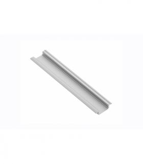 profil aluminiowy LED z kołnierzem GLAX silver 3,05 m (wpuszczany)