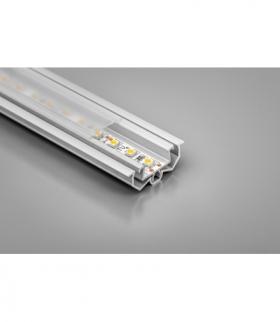 profil aluminiowy LED z regulacją kąta świecenia GLAX silver 2 m część wewnętrzna