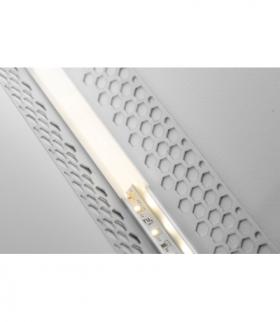 Profil LED GLAX kątowy, wewnętrzny do płyt GK 3m, nieanodowany