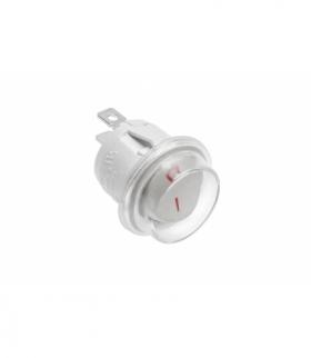 Przełącznik kołyskowy okrągły BIAŁY, IP44, max 1300W, max. 230V