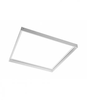 Rama do montażu natynkowego paneli LED 60x60cm (TYPU KING, PRINCE, INNOVO), biała