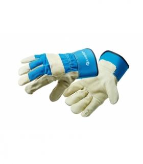 """Rękawice ochronne 10.5"""" z usztywnionym mankietem ze skóry"""