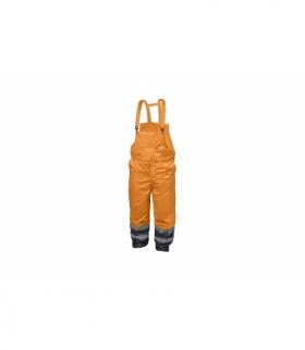 Spodnie ochronne ostrzegawcze z szelkami 2XL