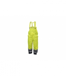 Spodnie ochronne ostrzegawcze z szelkami L