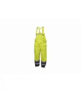Spodnie ochronne ostrzegawcze z szelkami XL