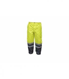 Spodnie ochronne ostrzegawcze żółte L