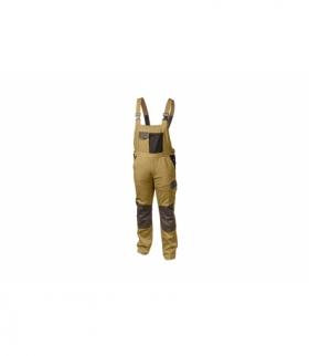 Spodnie ochronne z szelkami beżowe, S
