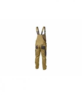 Spodnie ochronne z szelkami beżowe, XL