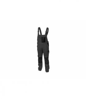 Spodnie ochronne z szelkami szare, L
