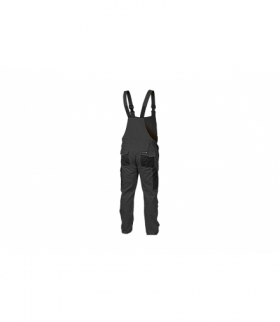 Spodnie ochronne z szelkami szare, M