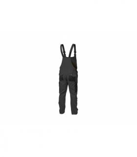 Spodnie ochronne z szelkami szare, XL