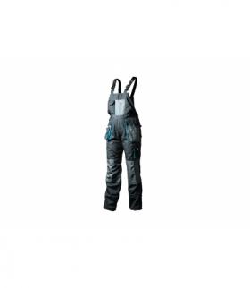 Spodnie ochronne z szelkami XXL, 10 kieszeni, wstawki na ochraniacze