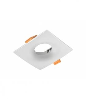Sufitowa oprawa punktowa AURORA, IP20, kwadratowa, biała