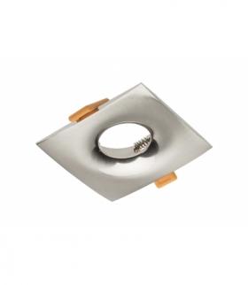 Sufitowa oprawa punktowa AURORA, IP20, kwadratowa, inox/satyna