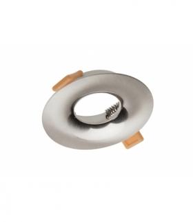 Sufitowa oprawa punktowa AURORA, IP20, okrągła, inox/satyna