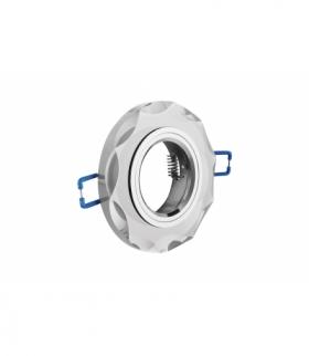 Sufitowa oprawa punktowa BRILLANTE, szkło, biały kryształ, okrągła