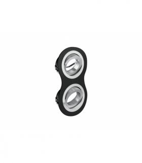 Sufitowa oprawa punktowa MORENA, IP20, okrągła, 2 oczka, czarna