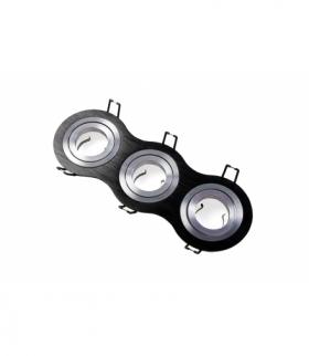 Sufitowa oprawa punktowa MORENA, IP20, okrągła, 3 oczka, czarna