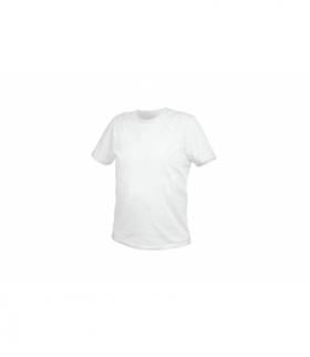 T-shirt bawełniany, biały, 2XL